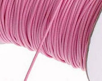 By the yard 2 mm light pink waxed cord