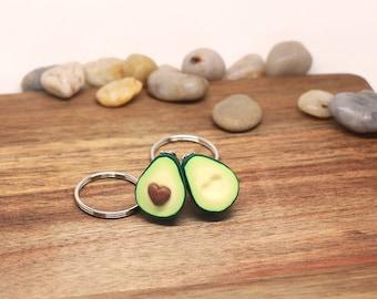 Avocado Friendship keychains - Miniature food jewelry - avocado keychain - BFF gift - BFF jewelry - Friendship jewelry, birthday gift
