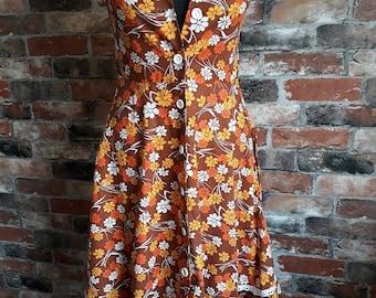 Vintage 1970s Summer Dress Size 10