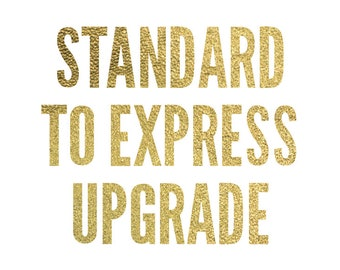 Upgrade from standard to express shipping