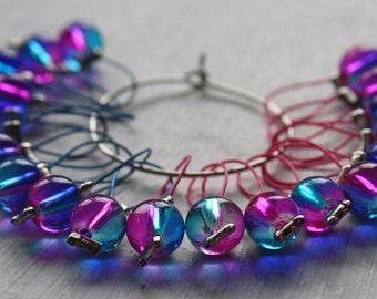 20 Knitting stitch markers Neon lights
