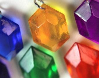 Zelda Inspired Rupee Keychain