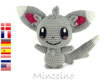 Crochet pattern Minccino (Pokemon)