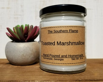 Toasted Marshmallow Scented Candle - Fall Scented Candle - Autumn Scent - 8 Ounces - Free Shipping - Personalized Candle - Candle Gift