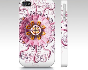 Pink Jellyfish Flower Ernst Haeckel Illustration iPhone Case cover 4 4s 5 5s Samsung Galaxy S3 s4 S5