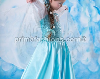 Elsa inspired costume Frozen costume 5 satin style skirt