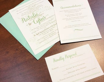 Country Shabby Chic Wedding Invitation
