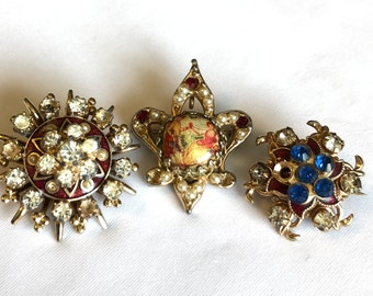 VINTAGE - BROOCHES - SET of 3