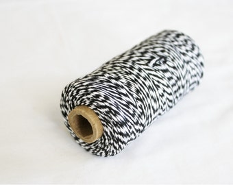 Black and White Bakers Twine - 10 yards