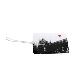 Portland Oregon White Stag Sign Luggage Tag