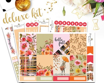 HELLO FALL Deluxe Kit Planner StickersPlanner Stickers for use with Erin Condren Planner/Weekly Planner Sticker Kit/Sticker Set