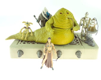 Star Wars Jabba The Hutt Action Playset Kenner 1983 Complete With Extras