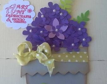 Greeting Card Flower Pot