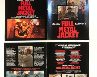 Full Metal Jacket - Mini Fold-out Promotional Flat - Stanley Kubrick