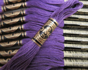 3837, Ultra Dark Lavender, DMC Cotton Embroidery Floss - 8m Skeins - Available in Full (12-skein) Boxes - Get Up To 50% OFF, see Description
