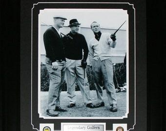 Jack Nicklaus Arnold Palmer Sam Sneod Vintage 11x14 frame