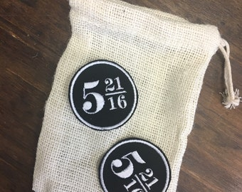 CUSTOM wedding date iron on patches Harry Potter fan set of 2