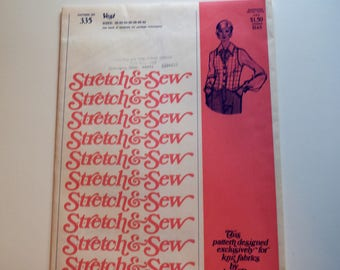 Vintage Stretch & Sew 335 Vest sewing pattern by Ann Person