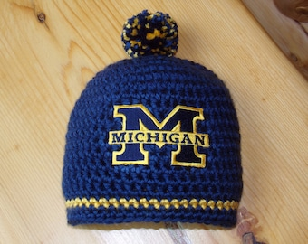 Michigan Baby hat for Newborn to 18 months - University of Michigan Wolverines