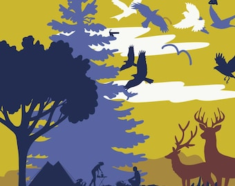 Wall Art Adventure poster Wildlife print