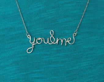 Custom Word Necklace,Personalized Word Necklace,Personalized Word jewelry,Anniversry Gift,Girlfriend Gift,Custom Jewelry