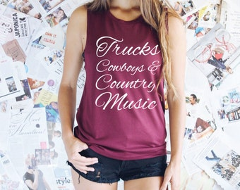Country Tank Top - Country Girl - Country Tanks - Country Concert Tanks - Country Shirt - Country Concert Shirt - Country Concert Tees