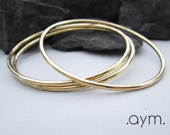 brass bangle bracelet, skinny hammered brass stacking bangle, gold modern minimalist thin everyday bracelet, gift for her, free shipping
