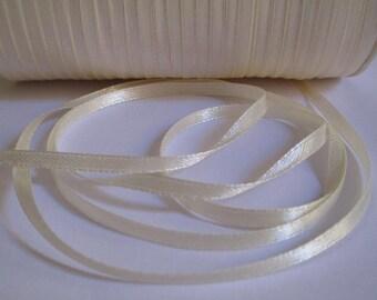 20 m beige 3mm satin ribbon