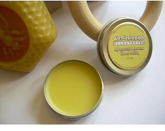 Beeswax Wood Polish - All Natural - 1/2 oz - Organic Wax Oil Sealant for Teething Rings Doll Furniture Safe for Babies + Wooden Baby Toys