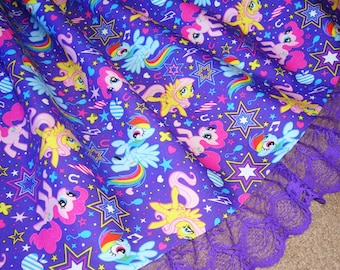 My Little Pony Bursting with Friendship Purple Lolita Skirt - ANY SIZE