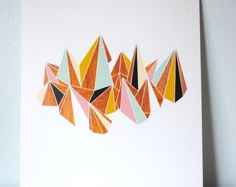 Modern Mountains Print