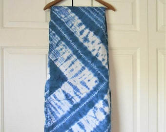 Vintage Indigo and white dyed Bedspread