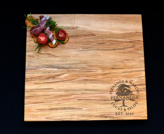 Personalized Large Maple Cutting Board