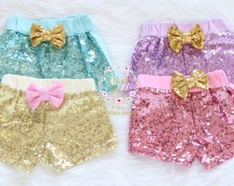 Girls Gold Sparkle Shorts, Gold Sequin Shorts, Girls Sparkle Shorts, Girls Sequin Shorts, Glitter Shorts, Sequin Shorts, Gold Shorts