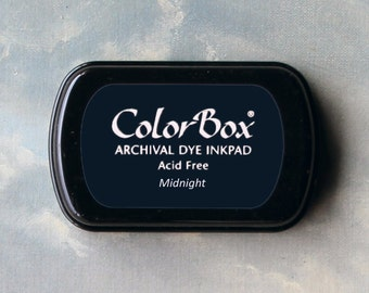 Navy Blue Stamp Pad (Midnight) // Archival ink // ColorBox