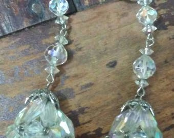 Vintage Vendome Long Crystal Drop Earrings