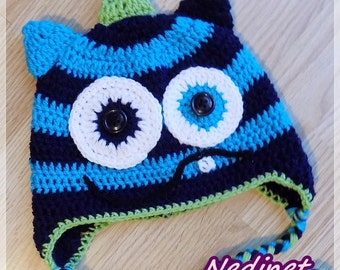 Cyber Monday Monster crochet hat  PATTERN