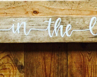 Jump in the lake sign -wood sign - rustic sign - outdoors