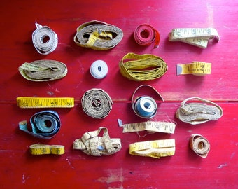 Instant Collection of 18 Vintage Measuring Tapes