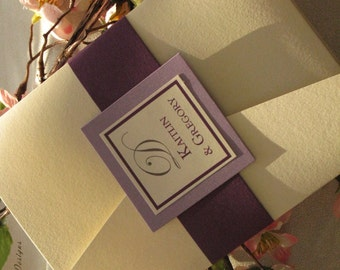 Signature Style 5 x 7 Horizontal Pocket Fold Invitation (Sample)