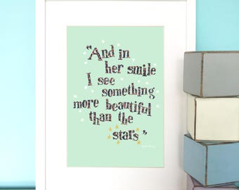 Girl's Nursery Print, Baby girl gift, New baby gift, Nursery print, Nursery decor, Children's wall art, Children's print.