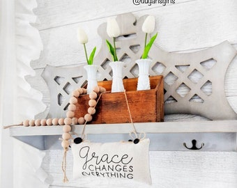 Grace changes everything, grace pillow, minipillow, entryway, livingroom, bedroom