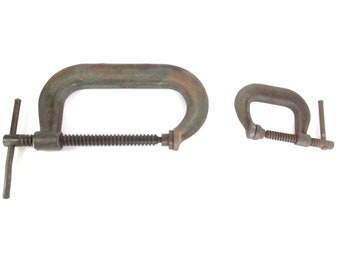 Wilton C Clamps 402 and 406 Vintage Old Hand Tool Tools
