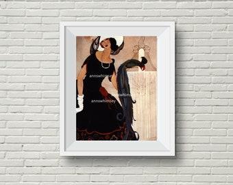 Antique Restored Vogue Art Print, Living Room Art, Bedroom Art, Family Room Art, Office Art #452