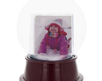 """5.5"""" Insert your Own Picture Frame Snow Globe"""