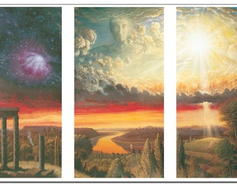 FREE SHIPPING Genesis - Fine Art Greeting Card (blank inside)
