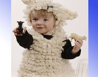 child Sheep suit, children lamb suit, hand knitted, hand made lamb suit, supersoft chunky yarn, children outfit,soft wool,