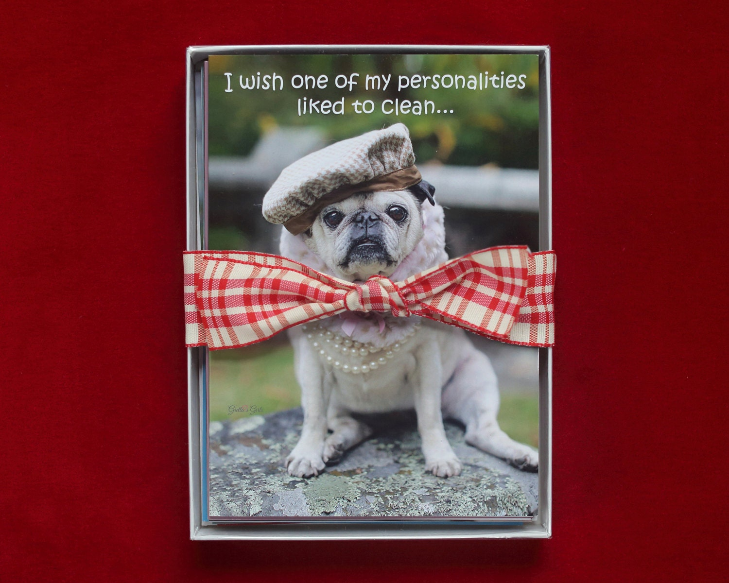 Greeting Card Set Of 10 Funny Pug Cards Cards For Friends By