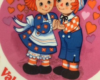 Schmid Raggedy Ann and Andy Plate