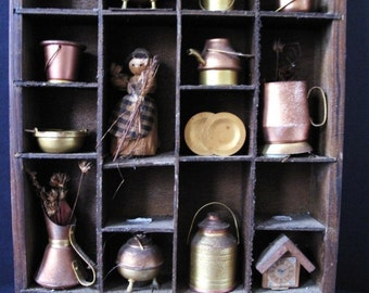Replica Copper Miniatures Shadow Box